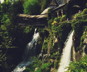 waterfall, switzerland, and nature image