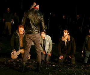 Abraham, rick, and the walking dead image