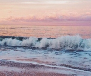 summer, waves, and sunset image