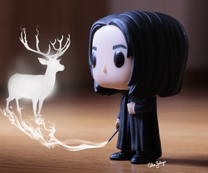 harry potter, snape, and patronus image