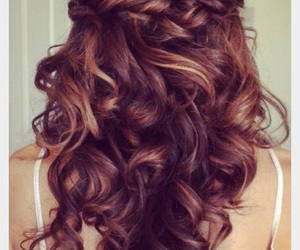 braid, cool hair, and curly image
