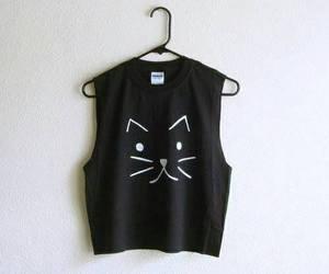 cat, black, and shirt image