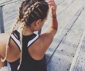 girl, braid, and haïr image