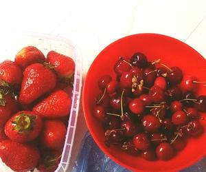 cherries, strawberries, and njamm njam image