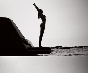 summer and black and white image