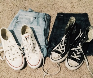 blue, converse, and denim image