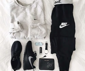 nike, outfit, and black image