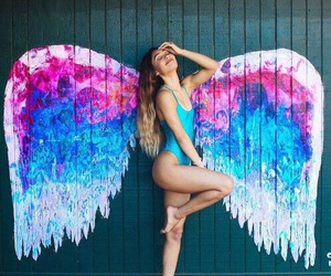 girl, angel, and summer image