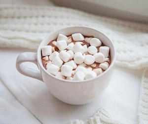 drink, marshmallow, and food image
