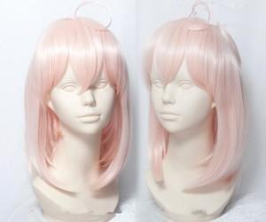 pink cosplay wig, cheap anime wig, and fate koha ace image