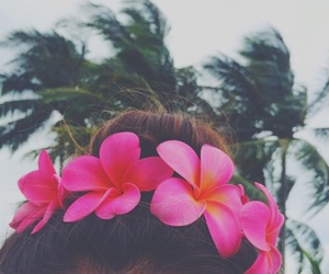 flowers, summer, and hair image