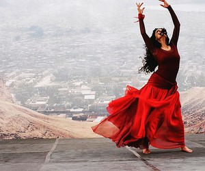 dance, red, and beauty image