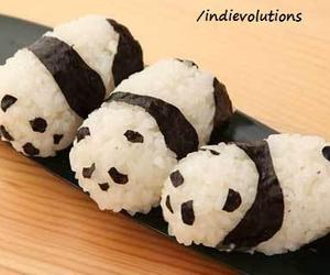 panda, sushi, and food image