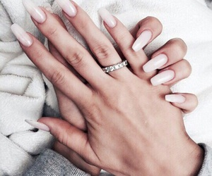 nails, ring, and pink image