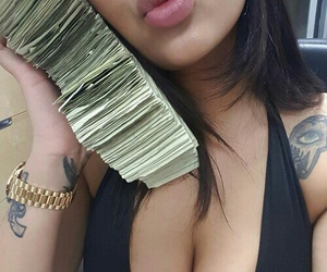brunette, money, and theme image