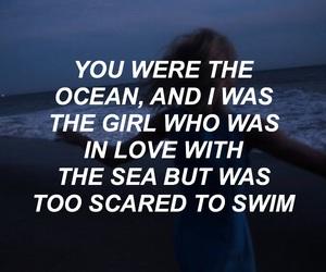 afraid, grunge, and ocean image