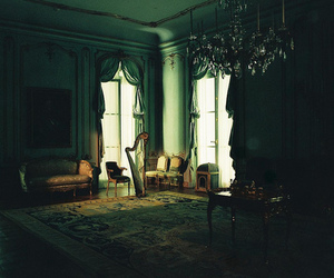 vintage, room, and dark image