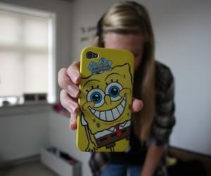 iphone, sponge bob, and spongebob image