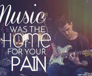 guitar, home, and men image