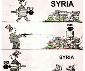 isis, syria, and america image