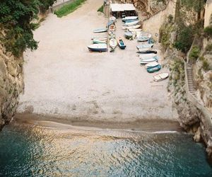 Amalfi, ocean, and stairs image
