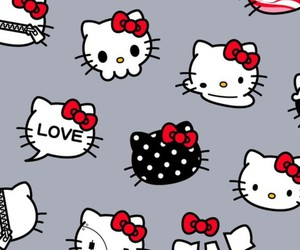 5, hello kitty, and pattern image