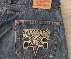 theme, thrasher, and jeans image