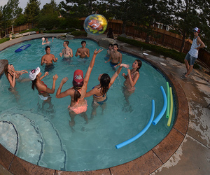 fun, pool, and pool party image