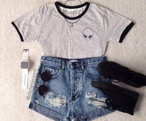 outfit, style, and alien image
