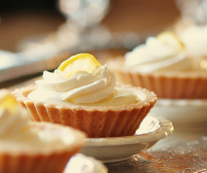 food, lemon, and tart image