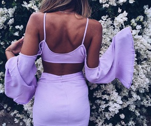 lilac, dress, and lavender image