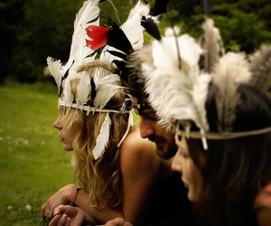 feather and girl image