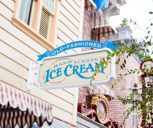 disneyland, ice cream, and shop image