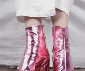 fashion, pink, and boots image