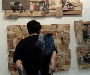 art, asian boy, and tattoo image
