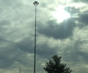 clouds, hipster, and light pole image