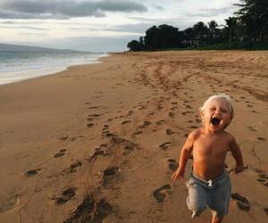 beach, baby, and child image