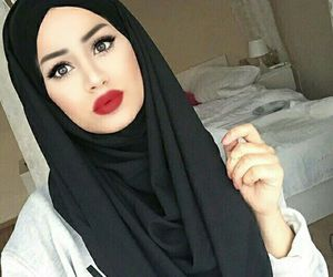 hijab, ruba zai, and black image