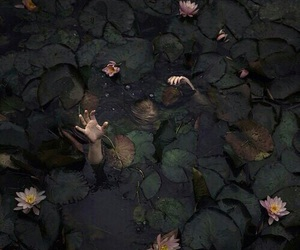 dark, theme, and water image