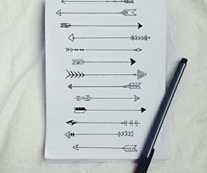 arrow, drawing, and art image