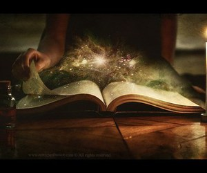 book, magic, and fantasy image