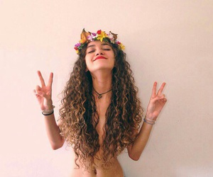 hair, beautiful, and hippie image