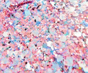blue, confetti, and pastel image