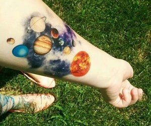 tattoo, planet, and galaxy image