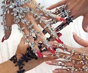 nails, jewelry, and diamond image