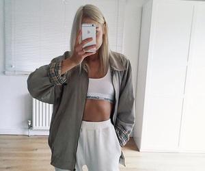 girl, fashion, and Calvin Klein image