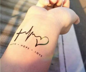 tattoo, love, and hope image