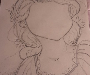 drawing, rapunzel, and tangled image