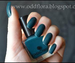 long nails, nail polish, and teal image