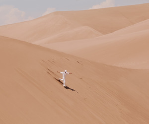 alone, art, and desert image